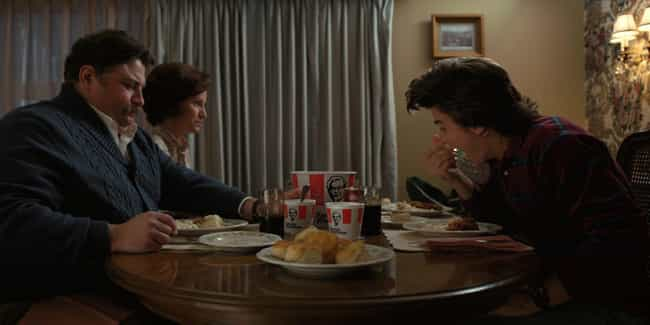Steve And Nancy Eat 'KFC' When... is listed (or ranked) 8 on the list Every Inaccuracy In The 'Stranger Things' Version Of The Early '80s