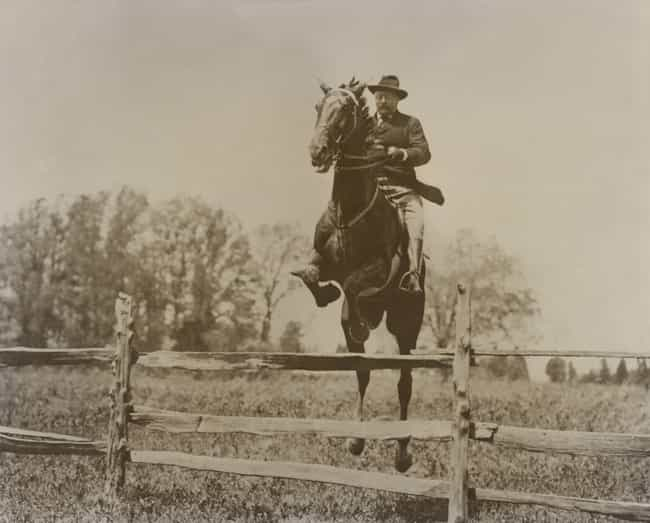 Those Wooden Planks Are No Mat... is listed (or ranked) 3 on the list 17 Rough-And-Tumble Photos Of Teddy Roosevelt That Are Like A Bald Eagle Eating Apple Pie
