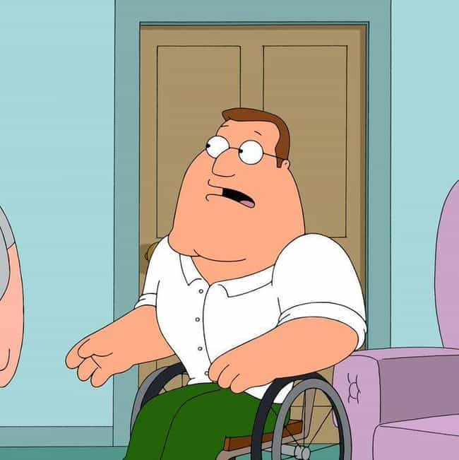 Boys Upstairs is listed (or ranked) 2 on the list The Best Joe Swanson Quotes From 'Family Guy'