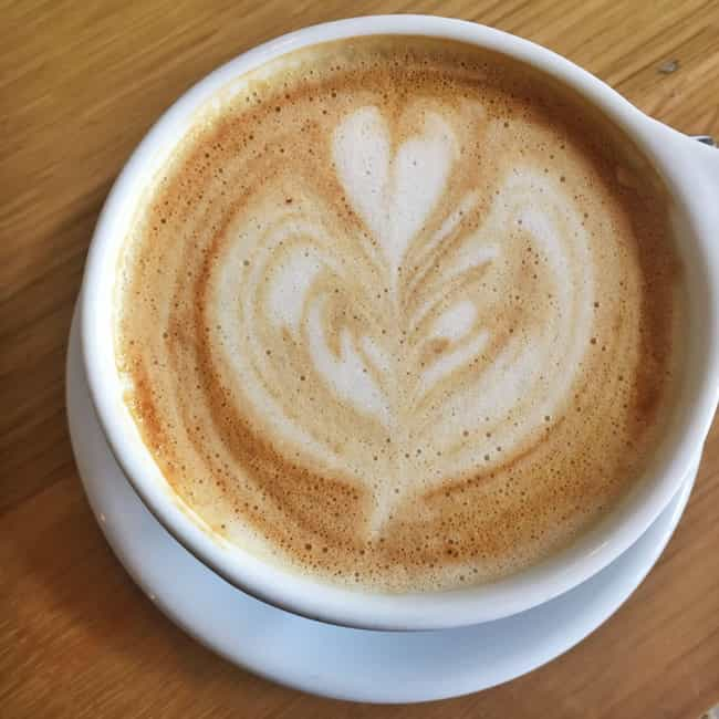 Oat Milk Makes Pretty Coffee A... is listed (or ranked) 4 on the list Why Is Everyone Suddenly Drinking Oat Milk Lattes?