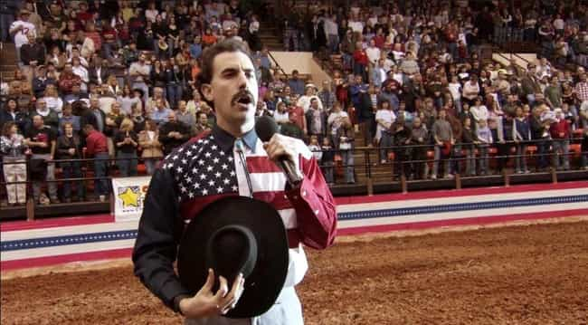 The Rodeo Scene Nearly Caused ... is listed (or ranked) 2 on the list Behind-The-Scenes Stories From The Set Of 'Borat'