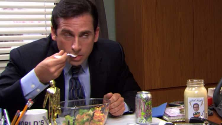 Michael Uses His Own Brand Of Salad Dressing