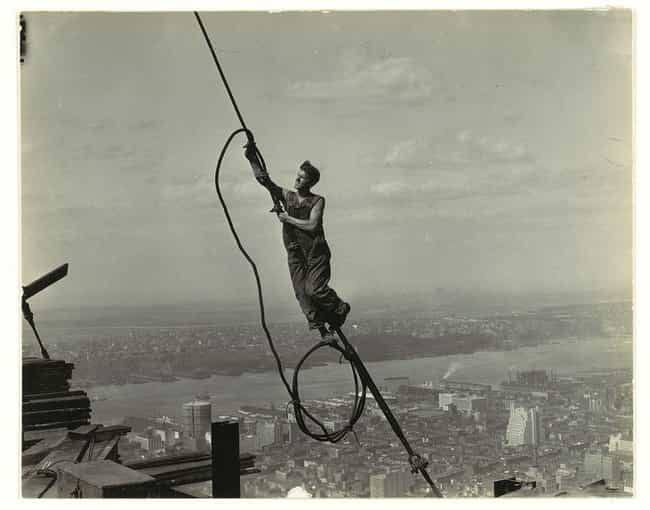 Icarus On The Empire State Bui... is listed (or ranked) 2 on the list Historical Photos Anyone Who Is Afraid Of Heights Should Avoid