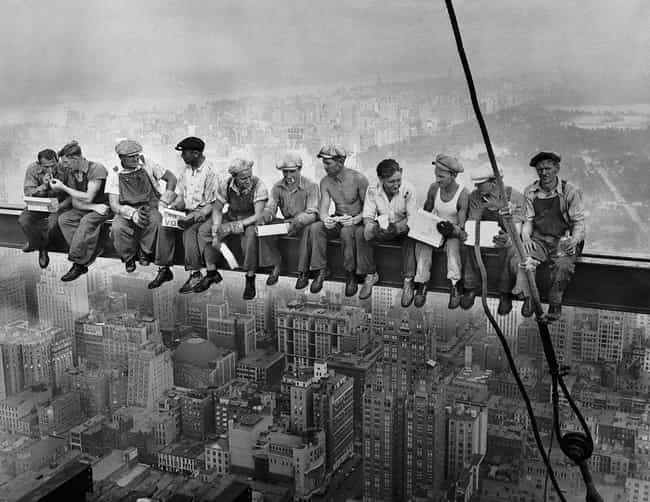 Lunch Atop A Skyscraper, 1932 is listed (or ranked) 1 on the list Historical Photos Anyone Who Is Afraid Of Heights Should Avoid