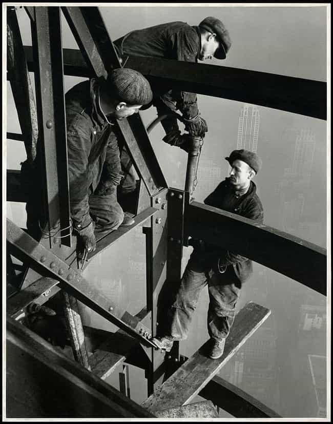 Three Workers On The Empire St... is listed (or ranked) 3 on the list Historical Photos Anyone Who Is Afraid Of Heights Should Avoid