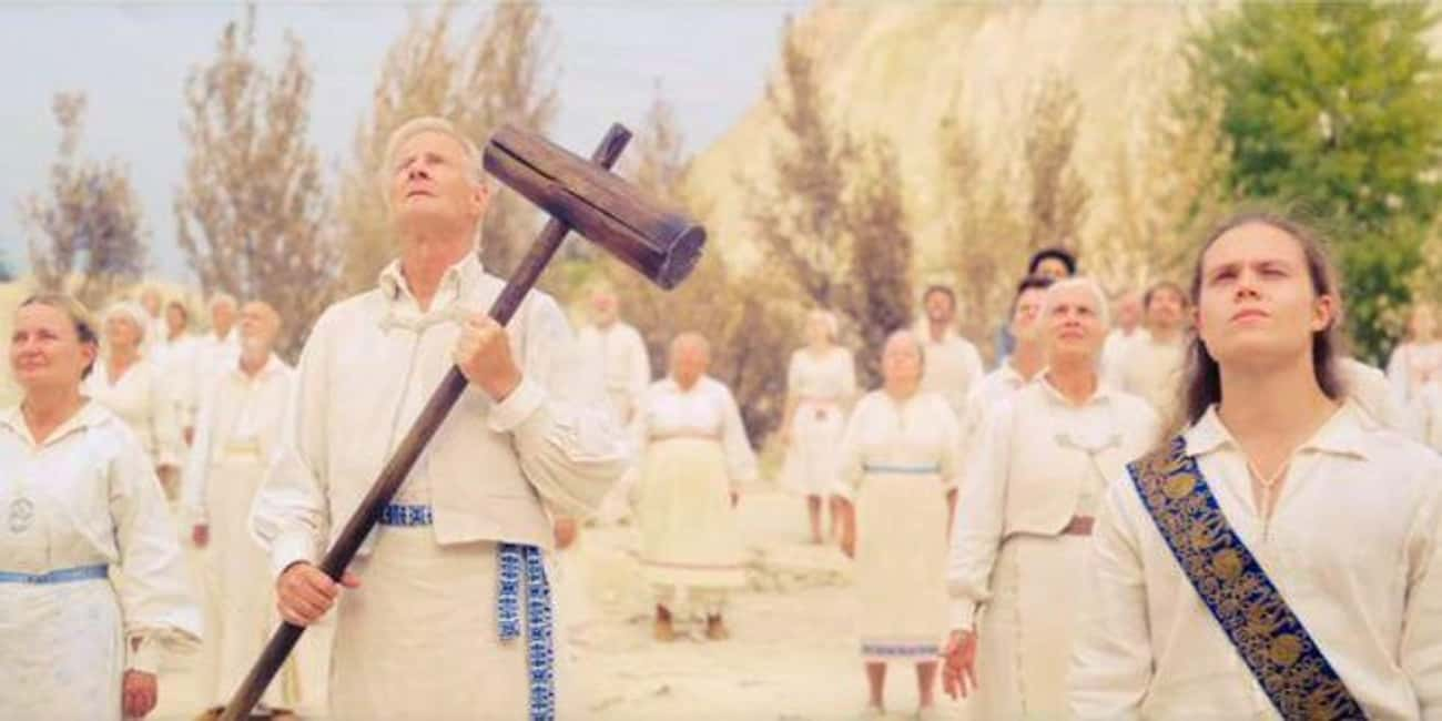 An Elderly Couple Jumps Off A  is listed (or ranked) 3 on the list 'Midsommar' Is A Phantasmagoric Nightmare Of A Horror Movie