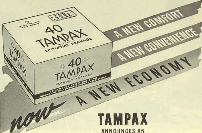 The Modern Version Of The Tamp... is listed (or ranked) 1 on the list What Was Hygiene Like During The Great Depression?