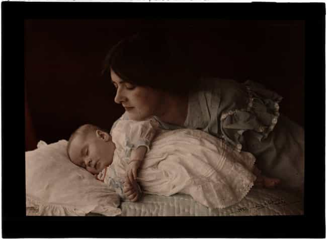 Mother And Child, C. 1910 is listed (or ranked) 2 on the list 21 Beautiful Colorized Historical Photos Of People From Around The World