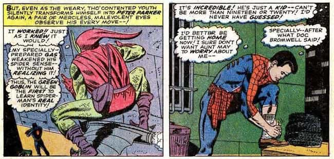 Green Goblin Discovers Spider-... is listed (or ranked) 2 on the list All The Times Spider-Man's Secret Identity Has Been Revealed