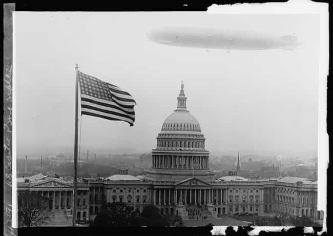 A Zeppelin Behind The US Capit... is listed (or ranked) 1 on the list Surreal Photos From The Heyday Of The Hindenburg And Zeppelin Flight