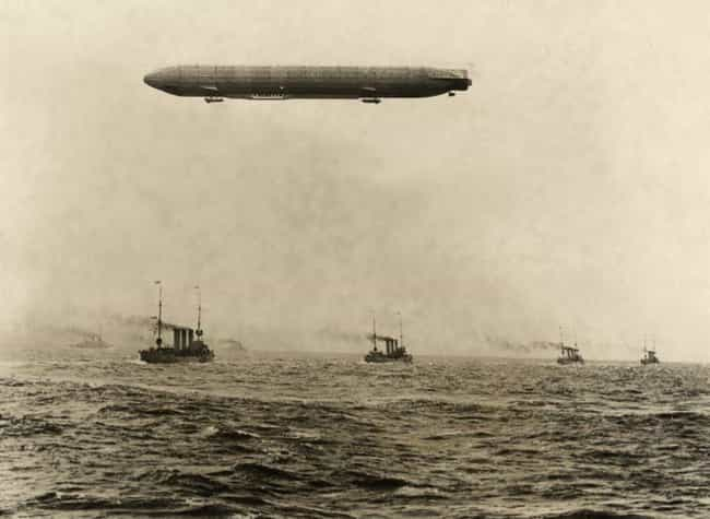 German Zeppelin Over The North... is listed (or ranked) 3 on the list Surreal Photos From The Heyday Of The Hindenburg And Zeppelin Flight