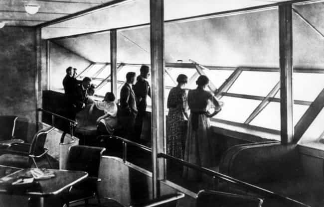 Inside Of The Hindenburg is listed (or ranked) 4 on the list Surreal Photos From The Heyday Of The Hindenburg And Zeppelin Flight