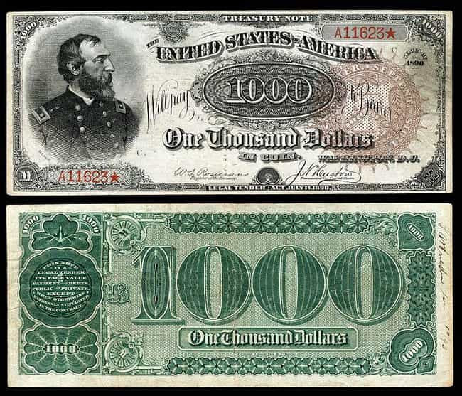 1890 $1,000 'Grand Watermelon'... is listed (or ranked) 1 on the list Rare US Currency That's Worth A Ton Of Money Now