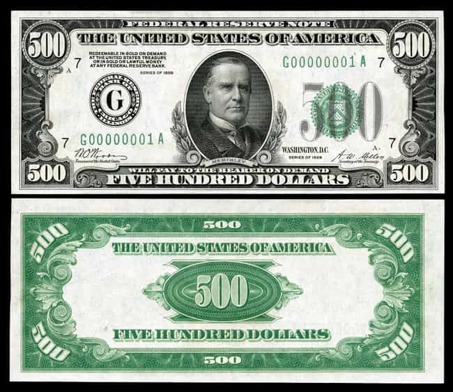 1928 $500 Star Symbol Note is listed (or ranked) 3 on the list Rare US Currency That's Worth A Ton Of Money Now