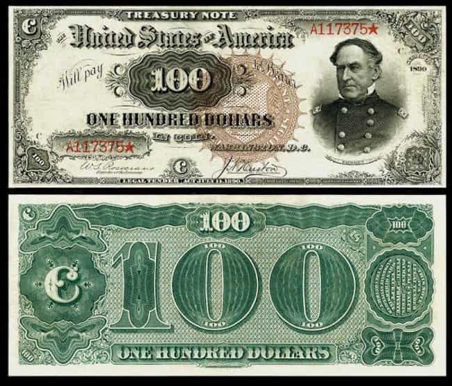1890 $100 'Baby Watermelon' Tr... is listed (or ranked) 2 on the list Rare US Currency That's Worth A Ton Of Money Now
