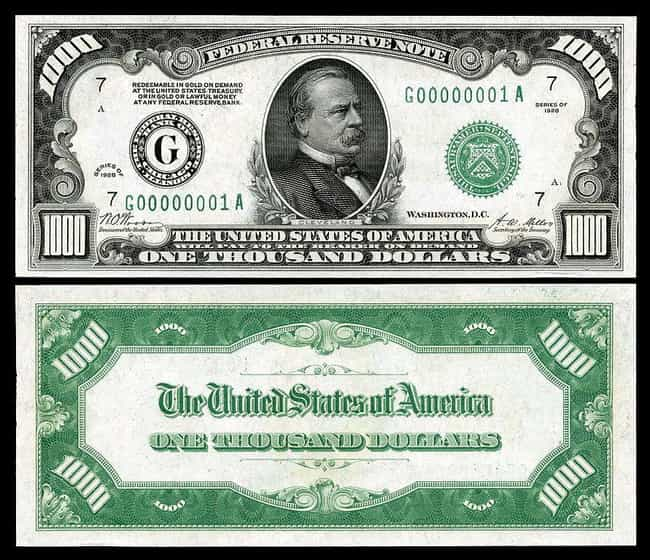 1928 $1,000 Bill is listed (or ranked) 5 on the list Rare US Currency That's Worth A Ton Of Money Now