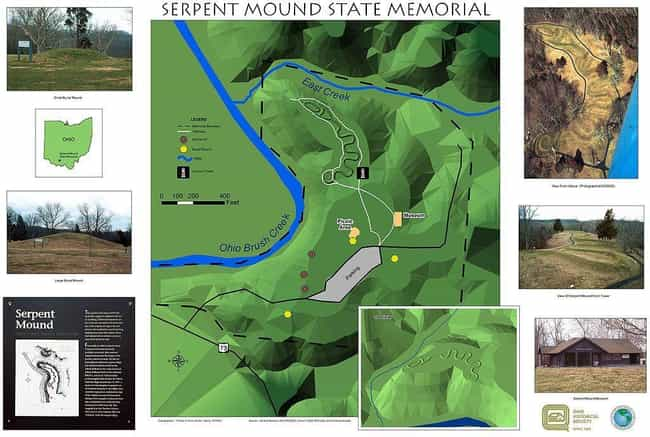 It Rests At The Edge Of A 4-Mi... is listed (or ranked) 3 on the list What Is The Mysterious Serpent Mound In Ohio, And How Did It Get There?