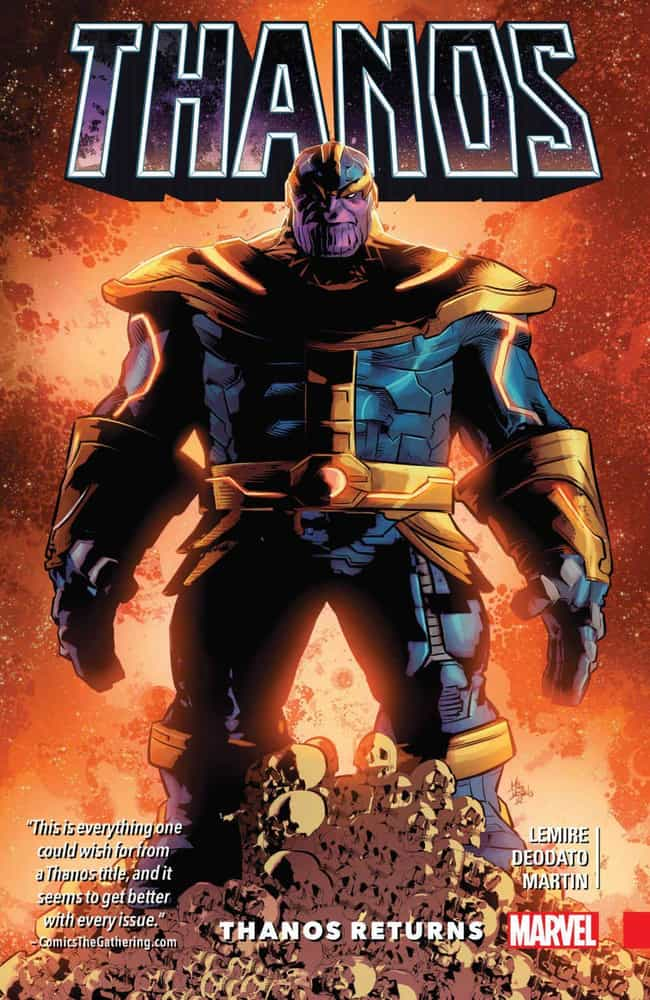 Thanos Returns is listed (or ranked) 4 on the list The Best Storylines That Feature Thanos