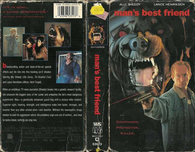 The VHS Cover Made Max Look Li... is listed (or ranked) 3 on the list 'Man's Best Friend' Is A Charmingly Stupid '90s Horror Movie