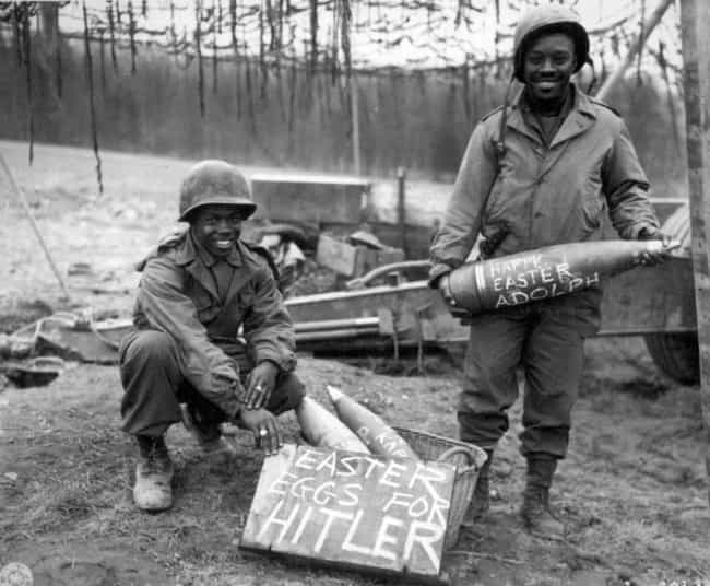 Soldiers Prepare A 'Gift' For ... is listed (or ranked) 4 on the list Historical Photos Of People Being Cool As Hell