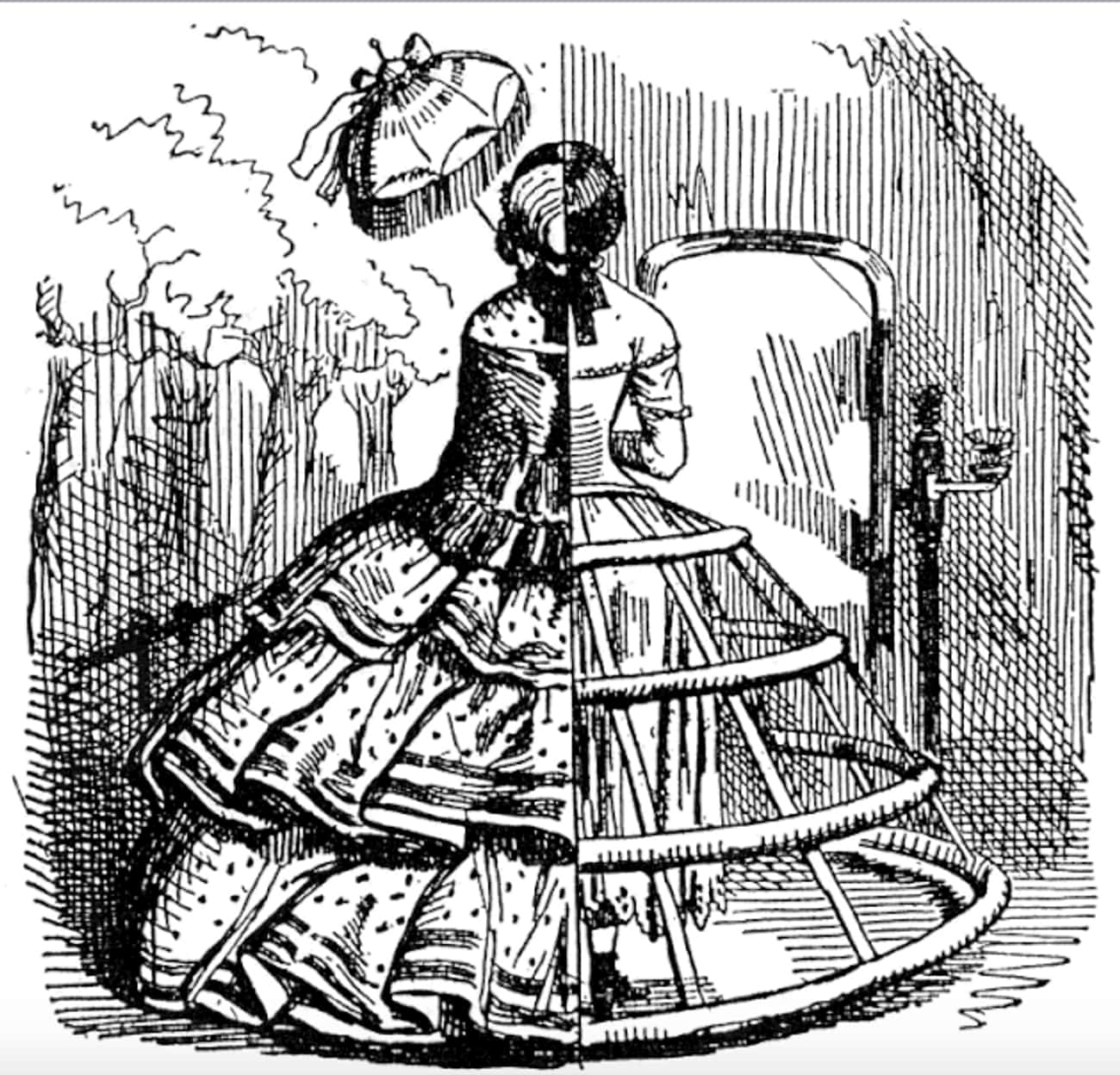 By The 1850s, Crinolines Were  is listed (or ranked) 2 on the list What Was The Deal With Those Giant Victorian Skirts?
