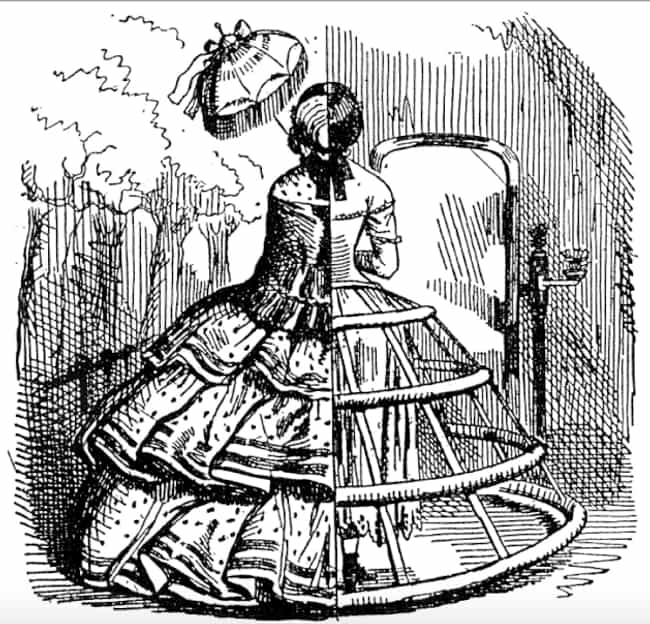 By The 1850s, Crinolines Were ... is listed (or ranked) 2 on the list What Was The Deal With Those Giant Victorian Skirts?