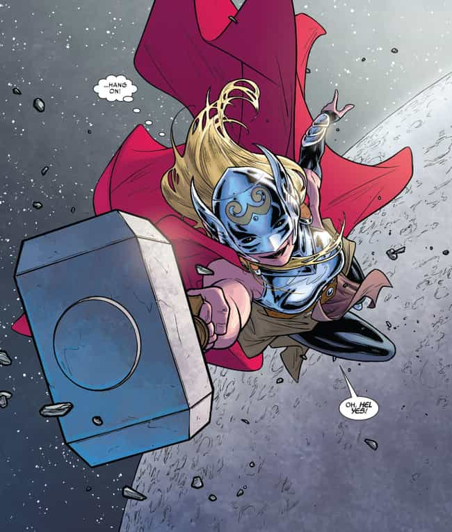 The Unworthy Thor Drops His Ha... is listed (or ranked) 4 on the list How Jane Foster Becomes Thor - And What She Does As A God