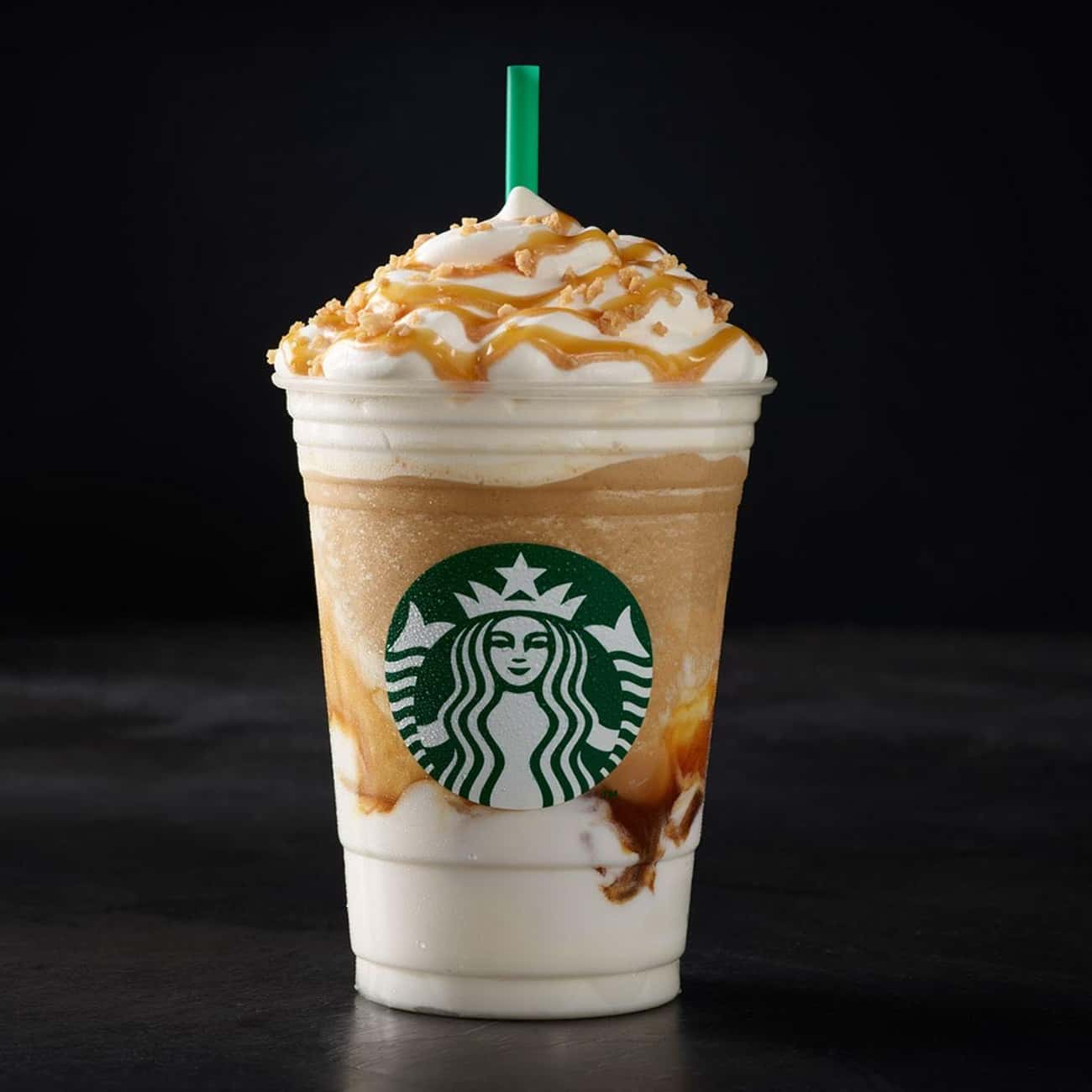 Caramel Ribbon Crunch Frappucc is listed (or ranked) 3 on the list The Best Frappuccino Flavors At Starbucks