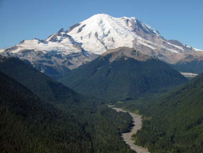 Rushing Meltwater Could ... is listed (or ranked) 3 on the list What Would Happen If Mount Rainier Erupted?