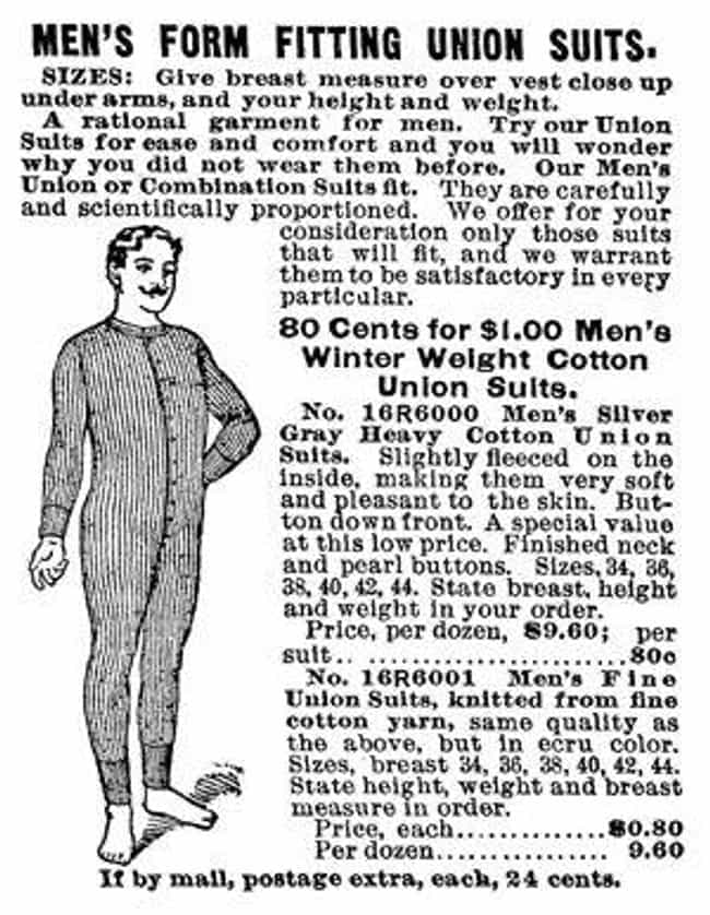 Tight, One-Piece Long Union Su... is listed (or ranked) 8 on the list What's The History Of Men's Underwear?