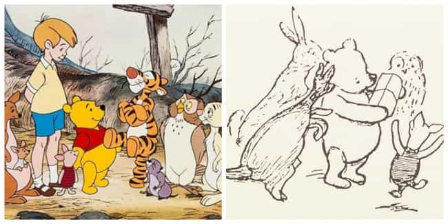 Illustrator E.H. Shepard Calle... is listed (or ranked) 1 on the list Disney's Winnie-the-Pooh Is Very Different From A.A. Milne's 'Classic Pooh' Book Version