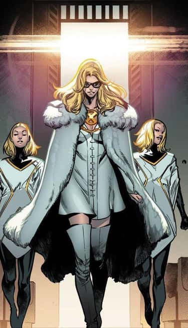 Emma Frost's Entire Wardrobe is listed (or ranked) 1 on the list The Most Impractical Superhero Costumes In Comics
