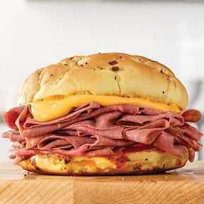 Beef 'N Cheddar is listed (or ranked) 2 on the list The Best Things To Eat At Arby's, Ranked
