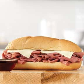 French Dip 'N Swiss is listed (or ranked) 7 on the list The Best Things To Eat At Arby's, Ranked