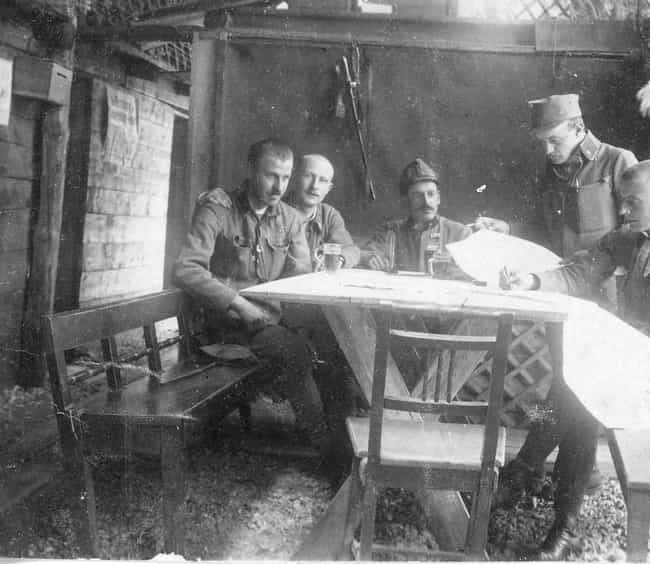 In A Trench Bunker In Ga... is listed (or ranked) 2 on the list 15 Photos From The Trenches Of WWI That Show What They Were Really Like