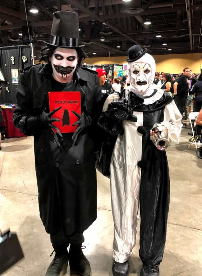 The Babadook and Art The Clown is listed (or ranked) 2 on the list The Best Horror Cosplays We Saw At Midsummer Scream 2019