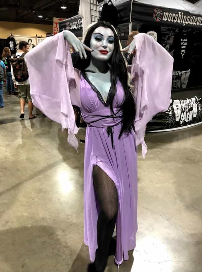 The Lovely Lily Munster is listed (or ranked) 1 on the list The Best Horror Cosplays We Saw At Midsummer Scream 2019