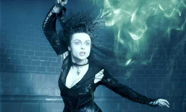 Bellatrix Lestrange Wear... is listed (or ranked) 3 on the list Wardrobe Secrets From Behind The Scenes Of The 'Harry Potter' Franchise