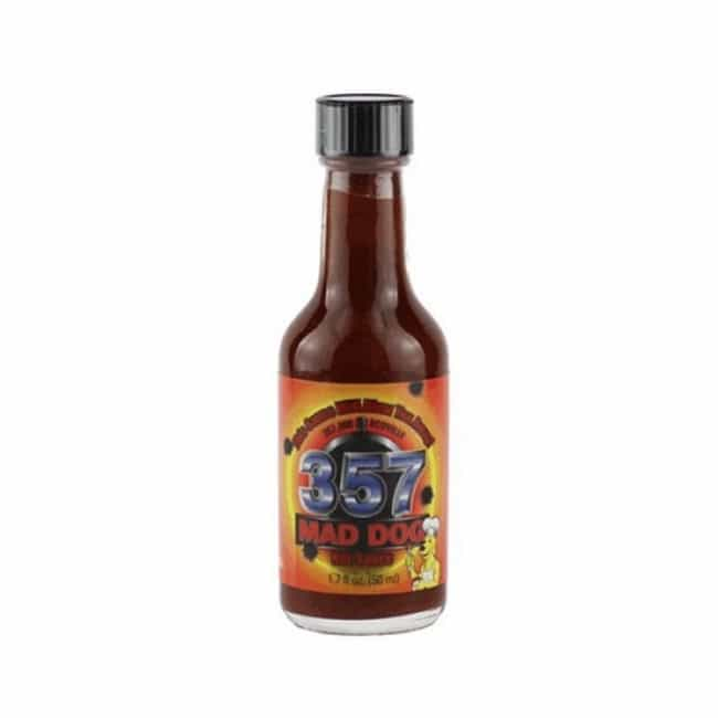 Mad Dog 357 Hot Sauce is listed (or ranked) 3 on the list The Hottest Hot Sauces You Can Buy Online
