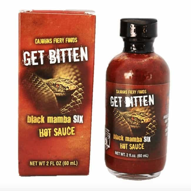 Get Bitten Black Mamba 6... is listed (or ranked) 4 on the list The Hottest Hot Sauces You Can Buy Online