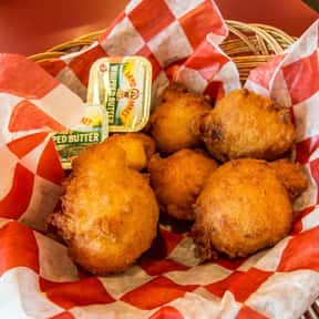Hush Puppies is listed (or ranked) 12 on the list The Most Delightful Side Dishes For Barbeque, Ranked
