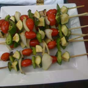Vegetable Skewers is listed (or ranked) 13 on the list The Most Delightful Side Dishes For Barbeque, Ranked
