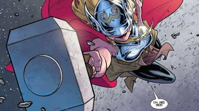 Jane Foster / Thor: Goddess Of... is listed (or ranked) 5 on the list Everyone Who Has Wielded Mjolnir In Marvel Comics