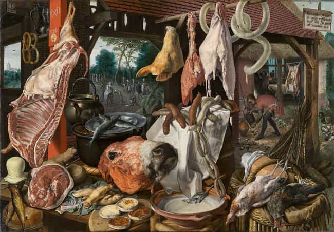Feasts Included Meat, Me... is listed (or ranked) 3 on the list What Was It Like To Dine At A Glorious Medieval Feast?