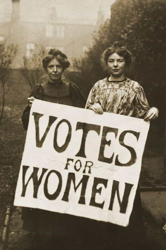 Suffragettes Declared Li... is listed (or ranked) 3 on the list The Shocking History Of Lipstick, The Royal Cosmetic That Was Outlawed