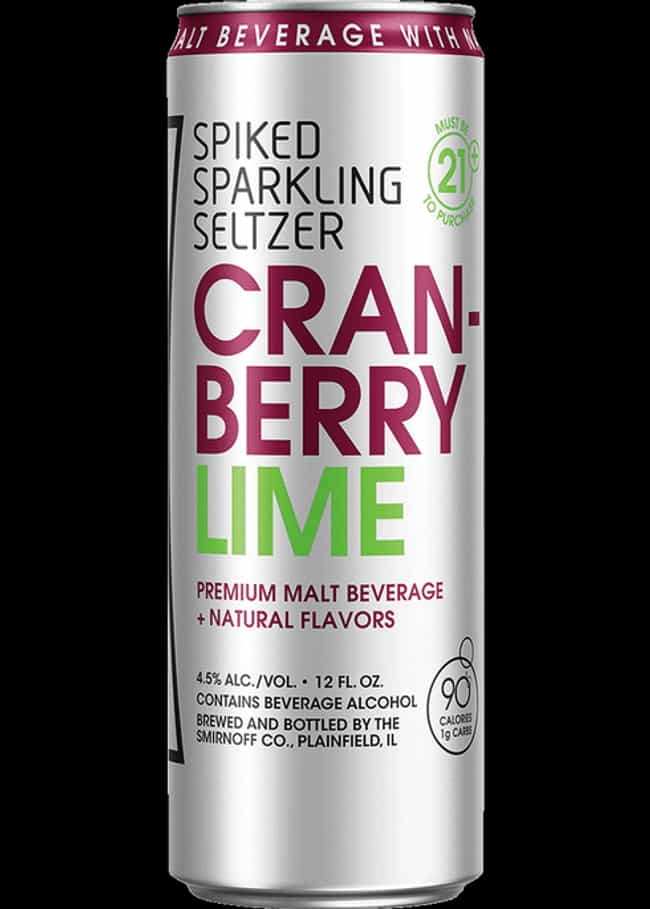 Seltzer Cranberry Lime is listed (or ranked) 3 on the list The Best Smirnoff Sparkling Seltzer Flavors