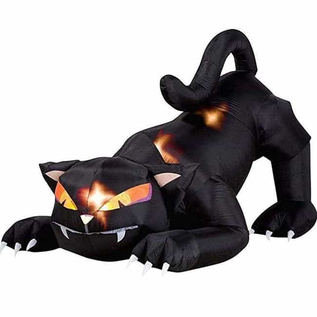 Inflatable Cat With Movi... is listed (or ranked) 3 on the list The Best Halloween Decorations For Adding Some Haunt To Your House