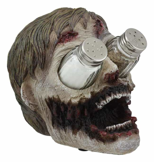 Zombie Head Salt And Pep... is listed (or ranked) 4 on the list The Best Halloween Decorations For Adding Some Haunt To Your House