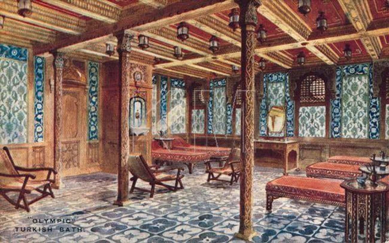 First-Class Passengers Had Access To Luxurious Turkish Baths