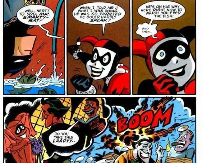 She Nearly Ended Batman,... is listed (or ranked) 4 on the list How Harley Quinn Ascended From Henchwoman To Beloved Antihero